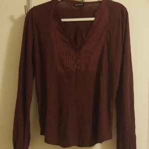 Burgundy Lucky Peasant Blouse